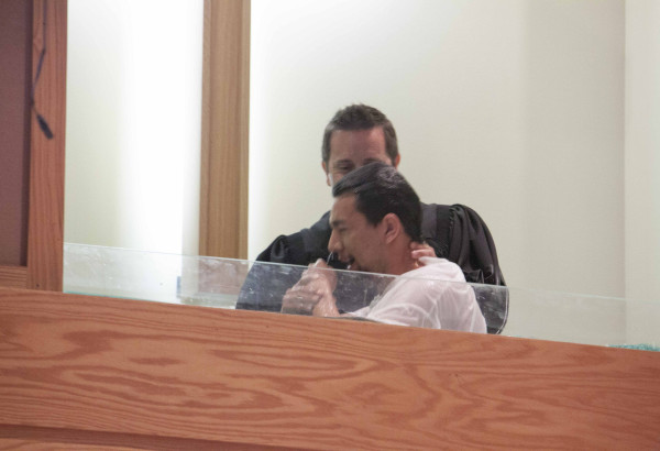 The baptismal in action...